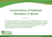 WSSA Lesson1 Slide1 180x130 - Herbicide-resistant Weeds Training Lessons