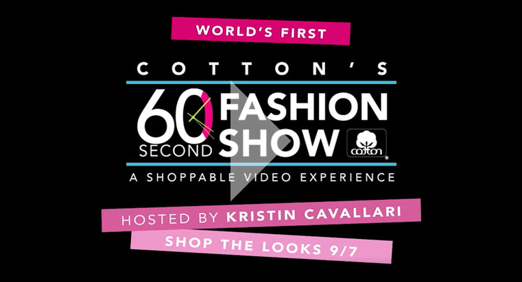 Cotton's 60 Second Fashion Show - Shoppable Video